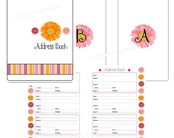 Sweet Gerber Daisy Address Book - Spiral Bound