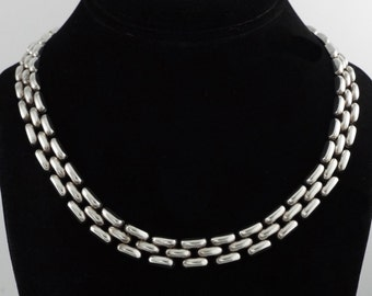 ITALY - Vintage Modernist Sterling Silver Chain Necklace by PAC - 50.3 gr.