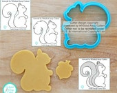 Squirrel and Skunk Cookie Cutter and Fondant Cutter Designed by Whisked Away Cutters - **Guideline Sketches to Print Below**