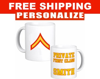 Personalized Marines Mug - US Marines - Veteran Mug - 11 oz Mug