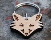 Wooden Fox Keychain Woodland Animal Series