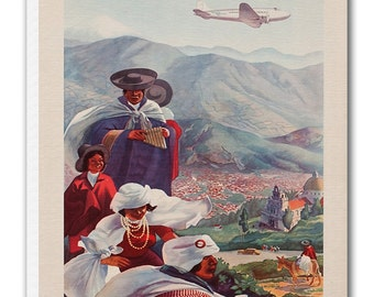 Ecuador Art Vintage South America Poster Print Canvas Hanging Wall Decor xr889
