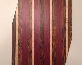 Asymmetrical Exotic Hardwood Cutting Board