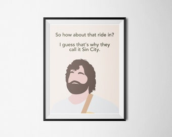 The Hangover Poster Print Alan Quote Print Art