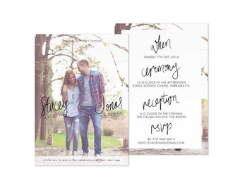 Wedding Photo Invitations Rustic Wedding Invitation Download with Photos Template
