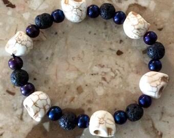 Skull Meditation Bracelet