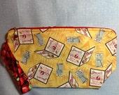 Large Zipper Clutch Bag, Knitting Project Bag