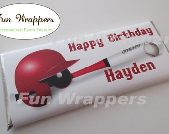 Baseball candy bar wrapper | Baseball Chocolate Bar Wrapper | Baseball Birthday | Baseball Party | Baseball Favor | Baseball Wrapper