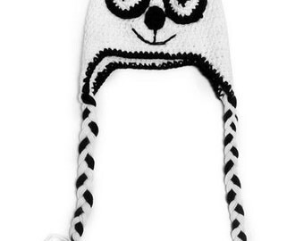 Panda Crochet Kids Hat