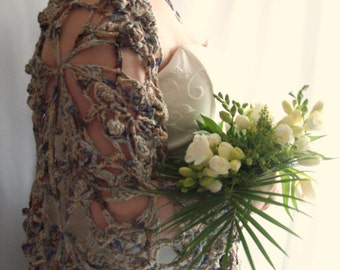 SALE, Grey Shawl, Winter shawl, Crochet shawl, Lace shawl, Wedding Shawl, Winter Wedding, Cotton Shawl, Gift for Her, Gift for Mum