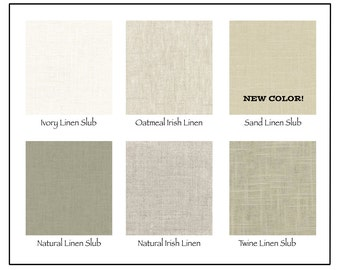 Neutral Linen Fabric Swatch and Nailhead Sample Pack