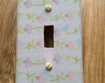 Blue bird switchplate cover