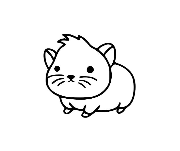 Baby Hamster Coloring Pages Cute Baby Hamster Cartoon Sticker Di Cut Decal