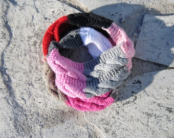 Cable Infinity Knit Handmade Scarf orCowl