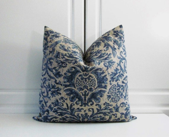 Ralph Lauren Decorative Pillow Cover Medallion-Indigo