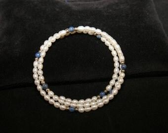 Pearl & Lapis Bracelet # 532