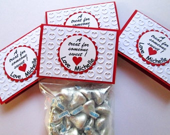 Valentine Treat Bag Toppers, Valentine Treat Bags, School Valentines Treat Bag, kids valentines, classroom valentines day, Valentine Favors