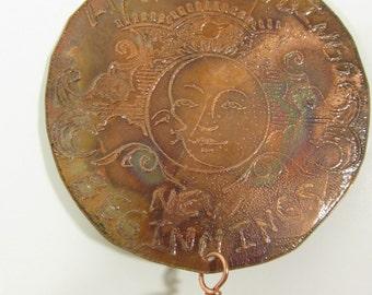 Copper Art, Happy Endings New Beginnings, Copper Suncatcher Prism, Inspirism #74 (3)