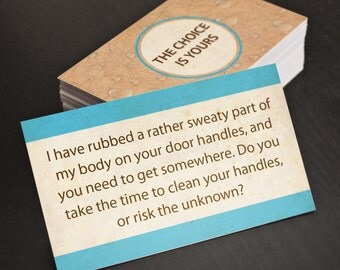 """Bad Parking Cards! Sweaty Body, Funny Business Cards!! Gag Gift, Birthday Gift. 30 business cards - 3.5"""" x 2"""""""