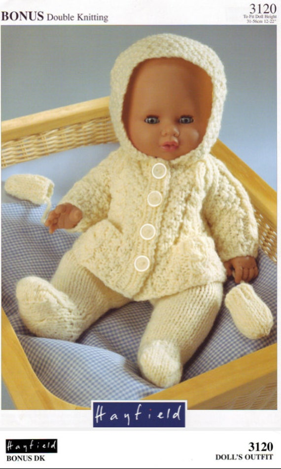 Baby Doll Jacket Leggings and Mittens Knitting Pattern PDF