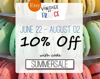 10% off your purchases with coupon code: SUMMERSALE. Code SUMMERSALE