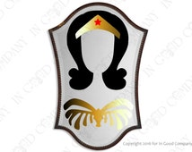 Made for Selfies! Wonder Woman Inspired Mirror Decal. Take a mirror selfie and appear as Wonder Woman. FUN! Inspired by the 1970's TV Show