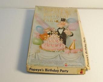 RARE VINTAGE 1961 Popeye's Birthday Party Colorforms PlaySet #143