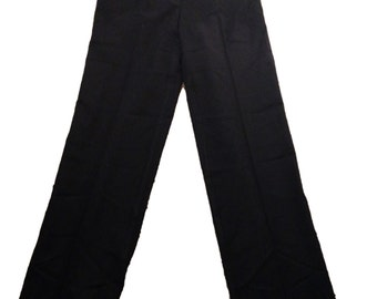 St. John Black Wool Trouser Pants - Size 6