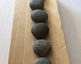 Maine Beach Stones -  20 Quarter Size - Round - Flat - Beach Stones for Crafts - Maine Beach Decor - Stones for Crafting - Jewelry Stones