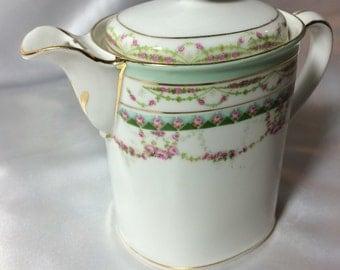 Demitasse Pot, Austrian, Mortiz Zdekauer; altrolau austria, small pot, tea pot, creamer, fleur de lis