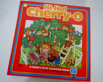 Vintage Hi Ho! Cherry-O Game - educational, counting game - 1985 - early children's board game, no reading required, game night, family, fun
