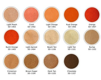 Sand Ceremony Unity Sand - Colored Sand - Sample Size - Over 60 colors of Unity Sand!