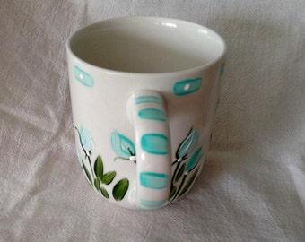 Blue on White Mug