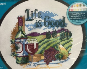"Dimensions Learn a Craft Counted Cross Stitch Kit ""Life is Good"" 72-73545"