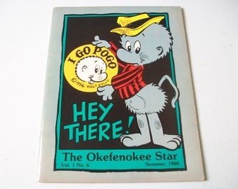 Pogo Comic Strip Magazine, Vintage I Go Pogo The Okefenokee Star Cartoon Character, Comics Sheet Music & Letters to Editor, Walt Kelly