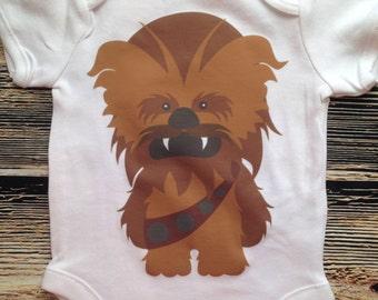 Baby Wookiee Chewbacca Baby Geek Yoda Jedi Baby Nerd Geeky New Baby Shower Gift Nursery Funny Humerous Cute Baby Boy Clothes
