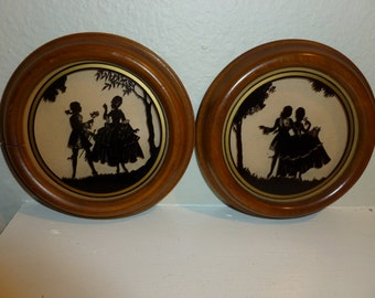 Vintage Pair Of Romantic Silhouettes