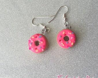 Donut Earrings Drop Dangle Earrings