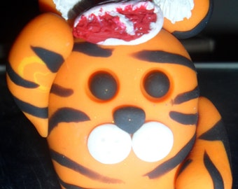 Tiger With Meat T-Bone - Handmade by Blobbz!