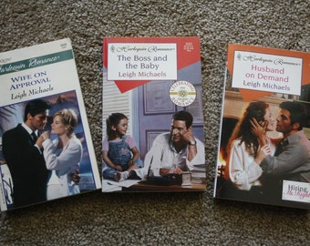 3 Autographed, Vintage Leigh Michaels books / Free shiping