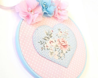 Love Blooms Hoop Art (Ready-to-ship)