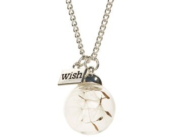 Silvertone 'Wish' Pendant Necklace