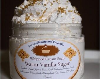 Warm Vanilla Sugar Whipped Cream Soap