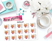 "MCM MANTRAS: ""Keep Calm and Stay Foxy"" Paper Planner Stickers!"