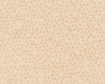 Lily Tonal Triangle Shell Peach Geometric Blender Fabric from Timeless Treasures Peach Triangles 100% Cotton by the half yard