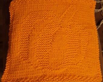 Pumpkin Dishcloth Knitting Pattern