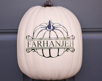 Personalized Autumn Pumpkin Decal