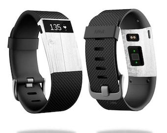 Skin Decal Wrap for Fitbit Blaze, Charge, Charge HR, Surge Watch cover sticker White Wood