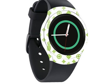Skin Decal Wrap for Samsung Gear S2, S2 3G, Live, Neo S Smart Watch, Galaxy Gear Fit cover sticker Lime Designer