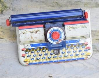 Junior Typewriter, Marx Typewriter, Kids Typewriter, Vintage Typewriter, Typewriter Display, Writer Decor, Reporter Decor